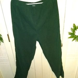 Denim & Co Large Dark Green Pull On Pants